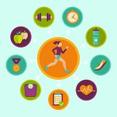 Vector Fitness Infographics Design Elements