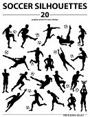 Silhouettes Soccer Players