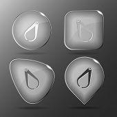 Caliper. Glass buttons. Raster illustration.