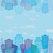 Seamless Texture. Modern Real Estate Buildings Design. Urban Landscape Texture