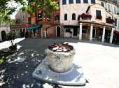 Well In The Square Of The Jewish Ghetto Of Venice