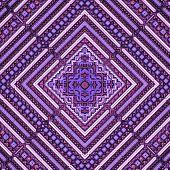 3D Pink Purple Rhomb Pattern