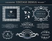 Vintage abstract frames . Vector element decor black