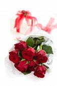 Roses And Gift.