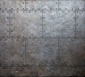 image of ironclad  - metal armor plates background - JPG
