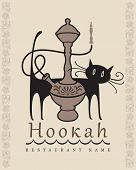 Hookah and cat