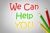 We Can Help You Concept
