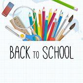 School Supplies Vector Background