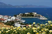 DATCA, TURKEY - APRIL 4, 2014: View to Mediterranean coast of Datca peninsula. The coastline of Datc