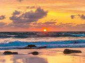 Sunset At Bude Cornwall