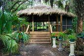 Tiki Hut Building In Florida Park