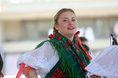 ZAGREB, CROATIA - JULY 16: Members of folk groups from Mihovljan, Croatia during the 48th Internatio