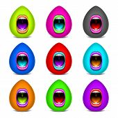 Mouth color open vector icon lips