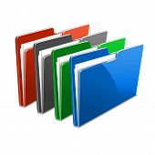 business case color documents file folder manager object office picture vector web workflow
