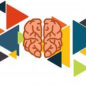 Brain In Flat Design