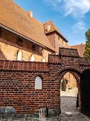 Teutonic Malbork castle in Pomerania region, Poland