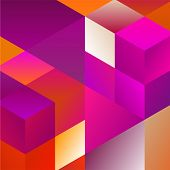 pic of parallelepiped  - Abstract Pattern of Geometric Shapes - JPG