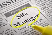 Site Manager Vacancy in Newspaper.
