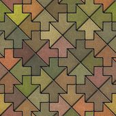Multicolor Mosaic Paving Slabs as Arrow.