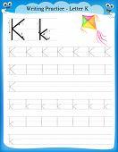 Writing Practice Letter K