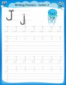 Writing Practice Letter J