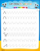 Let's' Draw Simple Lines Worksheet