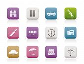 safari, hunting and holiday icons