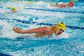 Milan - December  23:  F. Giordano   (italy)  Performing Butterfly  In  Swimming Meeting Brema Cup O