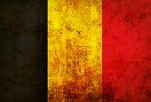 Grunge of Belgium flag