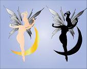 Beautiful fairy with moon