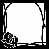 Vector Frame Whith Rose