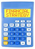 Calculator With Financial Strategy