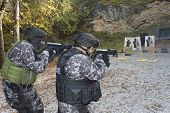Fight against terrorism, Special Forces soldier, shooting assault rifles