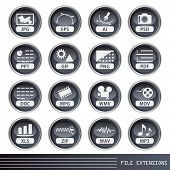 File extensions icons set