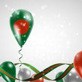 Flag of Bangladesh on balloon