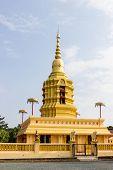 Yellow Buddhism Pagoda