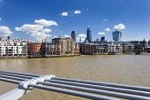 City Of London From Millennium Bridge