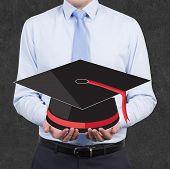Businessman Holding Hat Bachelor