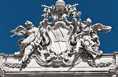 Fontana di trevi, detrail, Roma