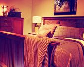 Beautiful Craftsman Bedroom Contemporary Bedroom Architecture toned with a retro vintage instagram filter