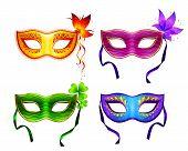 Colorful vector carnival masks set