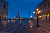 Piazza San Marco At Night In Winter