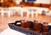 Hot Tunisian Tea On The Tray