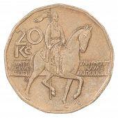 Twenty Czech Koruna Coin