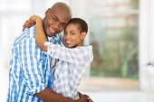 portrait of happy young african couple looking at the camera