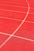 stock photo of arena  - Background Running track for athlete  - JPG