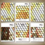 Abstract colored background, triangle design vector. Brochure, flyer or report for business, templat