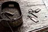 stock photo of fable  - Old keys abandoned in a very old house - JPG