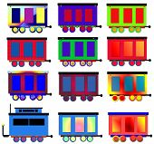 Train Cars Background