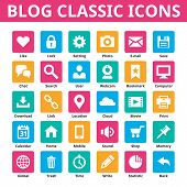 image of internet icon  - Blog classic icons - JPG